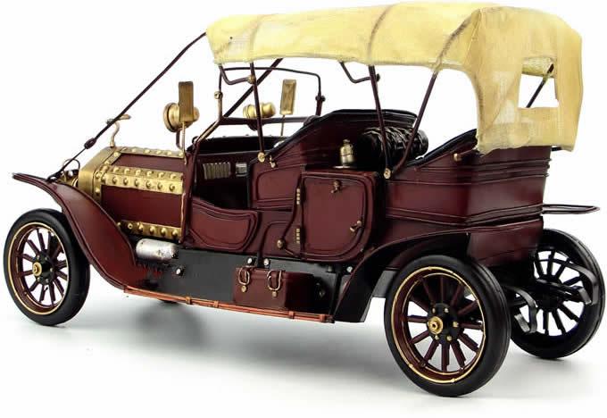 Handmade Antique Tin Model Car-1909 Rolls Royce Ghost