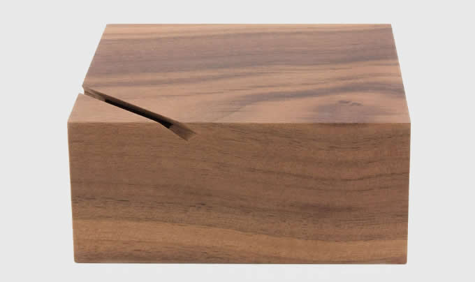 Black Walnut Wooden  Coin Bank Money Saving Box