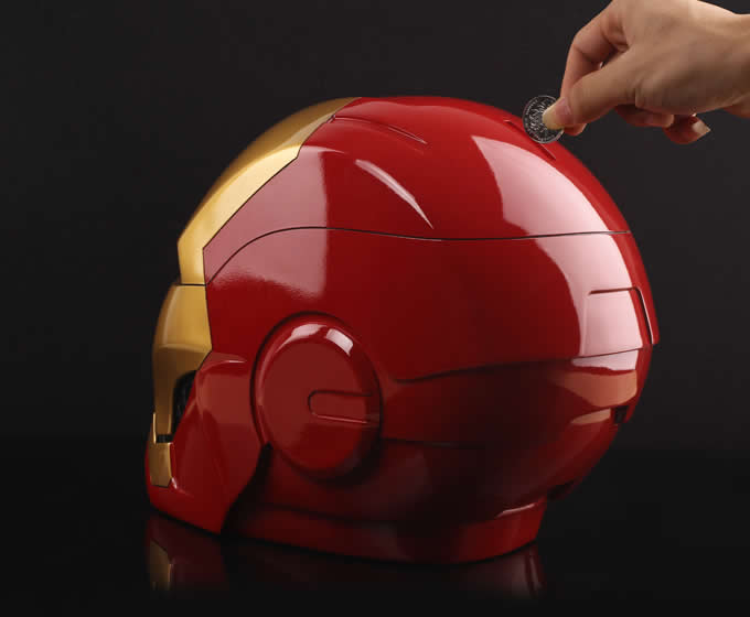 Iron Man Helmet Large Piggy Bank Feelgift