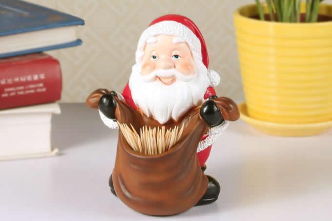 Santa Claus Desk Decoration Pencil Holder Toothpick Holder