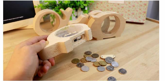 Wood Love Animal  Piggy Bank