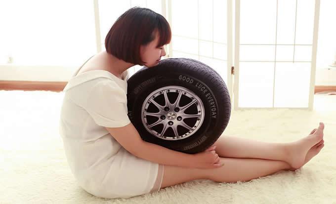 3D Tire Shaped Pillow Cushion