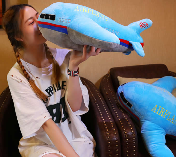 Airplane Shaped Pillow Decorative Pillows Bed Decor