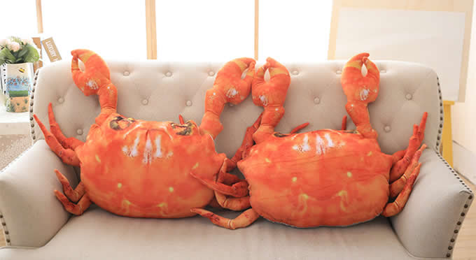 Crab Lobster Throw Pillow Back Cushion Pillow Plush Doll