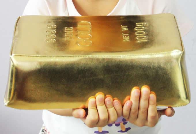 Creative Emulation Gold Bullion Bar Pillow Afternoon Nap Pillow