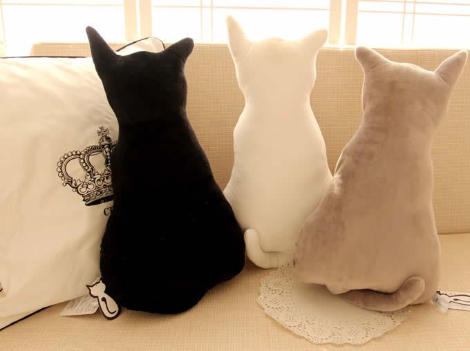 Cute Animal Shaped Pillows : Cute Cat Throw Pillow Back Cushion Pillow - FeelGift