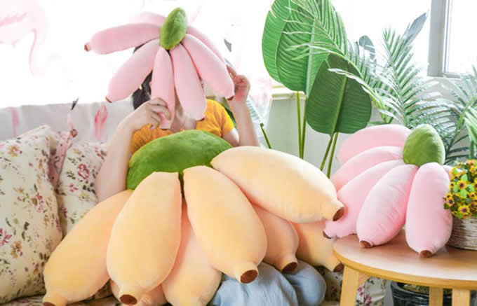 Lovely  Banana Plush Stuffed Pillow Sofa Cushions Children Plush Toy Gift