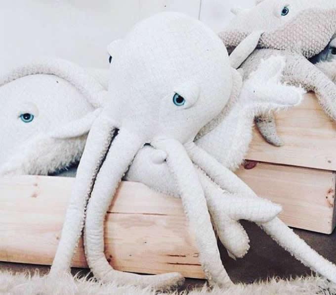 Octopus Ocean Animal Dolls Kids Plush Pillow Super Soft Toys