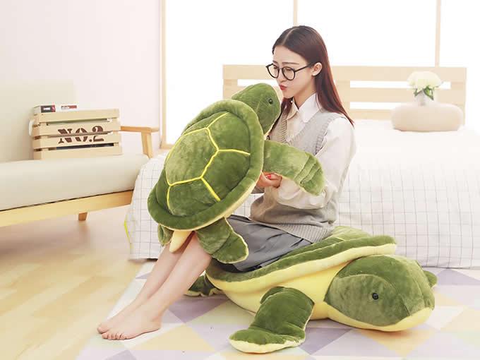 Turtle Shaped Pillow Cushion Plush Stuffed