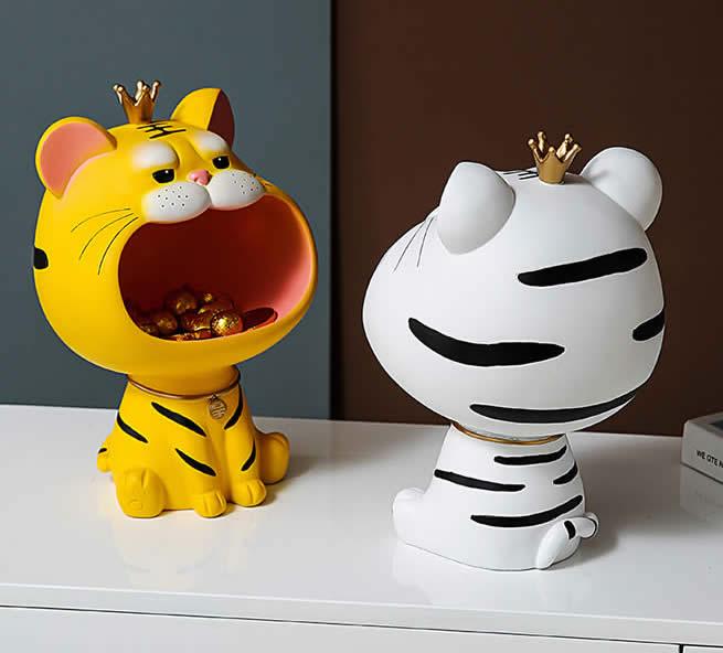 Cartoon Tiger Living Room Desktop Organizer Storage Box&Tray