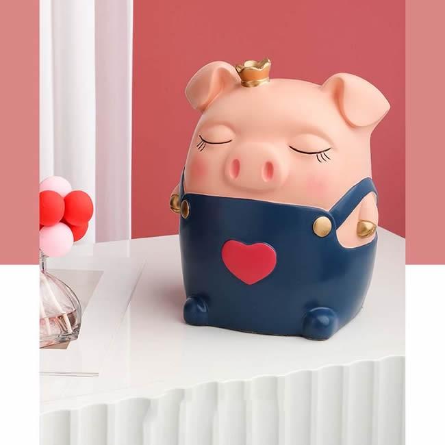 Cute Suspender Skirt Pink Piggy Tissue Box