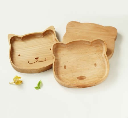 Wood Animal Head Plate Serving Dishes