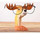 Wood Hand Carved Deer Shaped Eyeglass Holder / Spectacle Display Stand