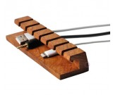 3pcs Wooden Cable Organizer Cord Management System Holder for Power Cords and Charging Cables