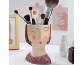 Beautiful Girly Desktop Organizer Storage Pen Holder Small Flower Pot