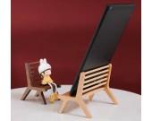 Classic Handmade Wooden Chair Phone Holder (Beech & Black Walnut)