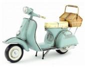 Handmade Antique Model Kit Motorcycle-Retro VESPA Motor Scooter