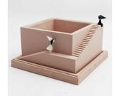 Handmade Concrete Architectural Square Succulent Planter / Plant Pot / Flower Pot With Tray