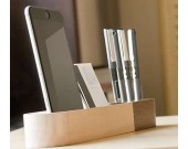 Wooden Pen Pencils Mobile Phone Holder Desk Organizer