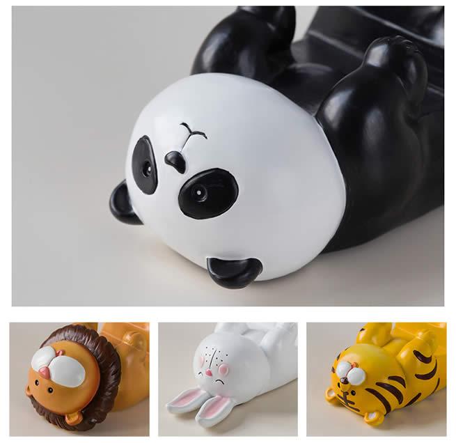 Fun Lying Down Cartoon Animal Mobile Phone Holder Tiger Bunny Panda