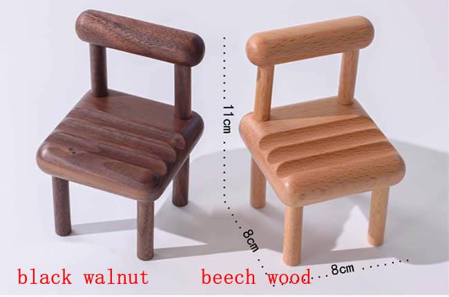 Multi-angle Adjustable Mini Wooden Chair Phone Holder