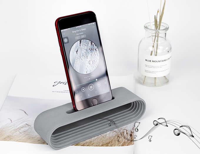 Concrete  Phone Dock Stand Holder Cell Phone Sound Amplifier for SmartPhone