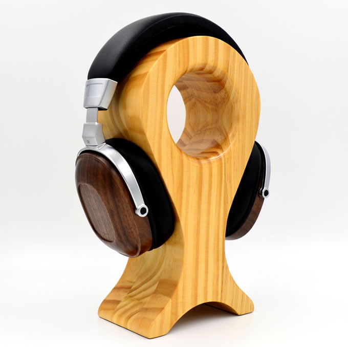 Wooden Headphone Stand , Fit for All Headphone Sizes ...