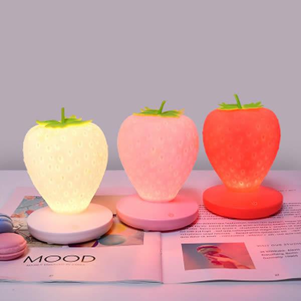 Beautiful Strawberry Night Light USB Charging Lamp