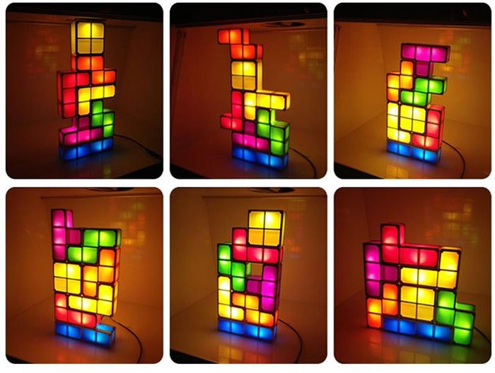 Tetris Stackable LED Desk Lamp Light