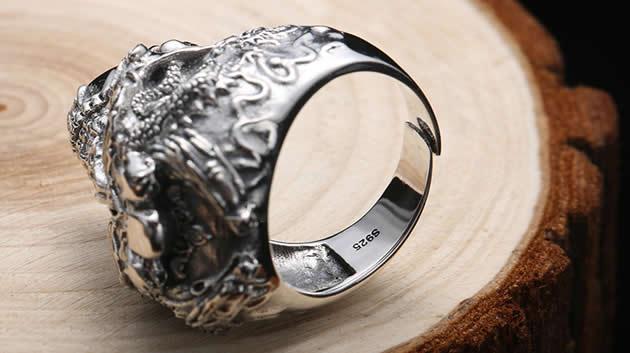 Creative Punk Style Skull Retro Silver Ring