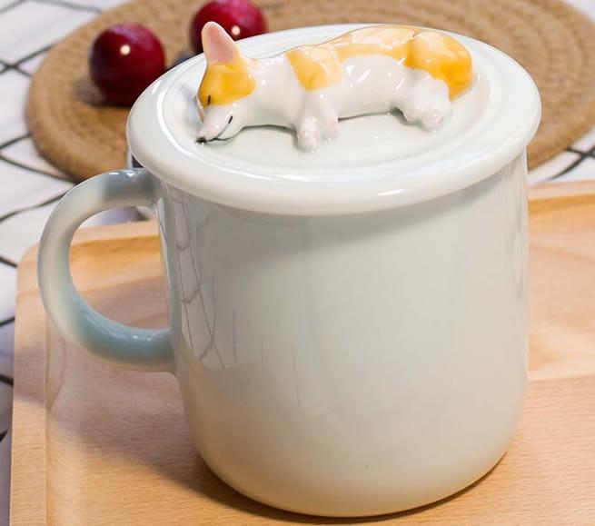 Corgi Pet Dog Ceramic Coffee Cup
