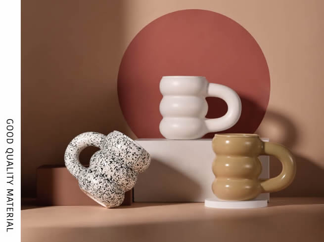 Geometric Irregular Shape Ceramic Art Mug