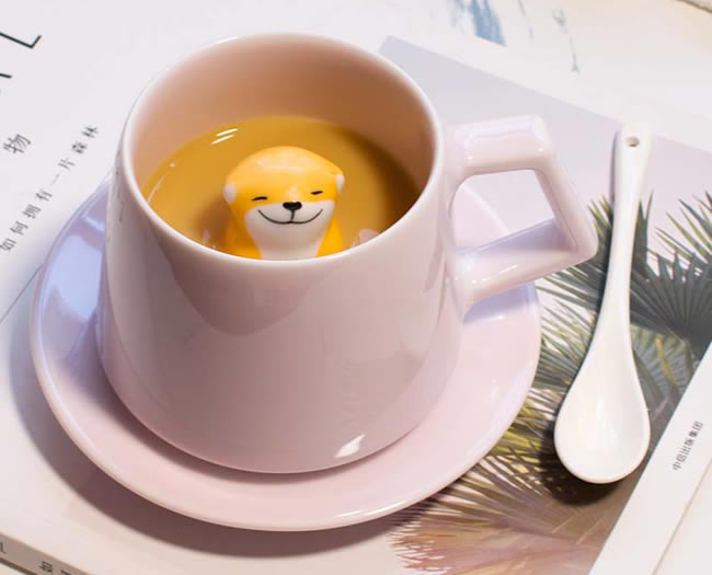 Happy Shiba Inu Ceramic Coffee Cup