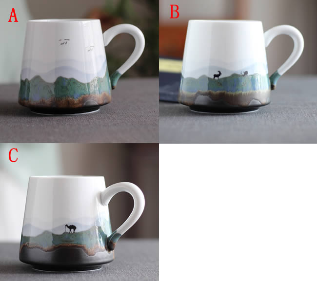 Pastoral Mountain Water Art Coffee Cup