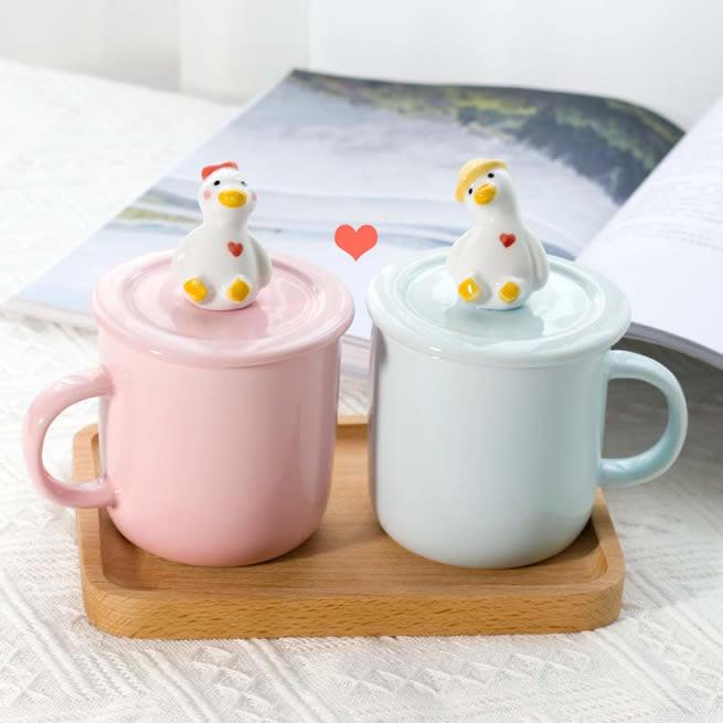 Fun Three-dimensional Duckling Ceramic Mug