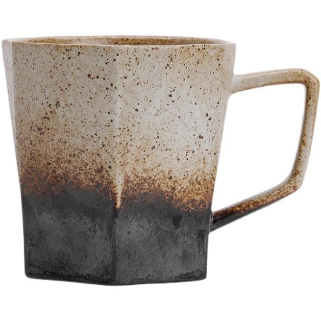 Retro Geometric Hexagonal Rhombus Ceramic Mug Milk Cup