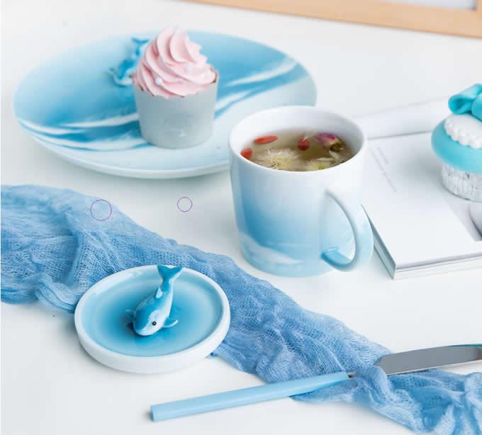 3D Cute Lovely Cartoon Ocean Animal Figurine Ceramics Coffee Cup