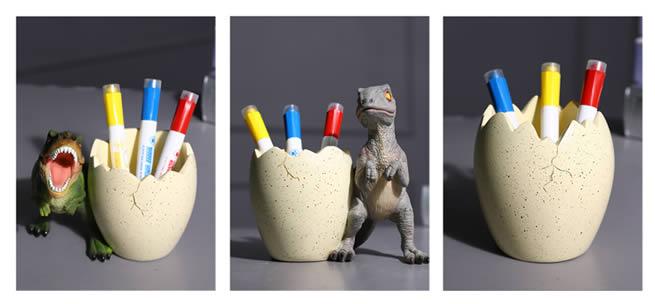 Classic Dinosaur Desktop Decoration Organize Pen Holder Tyrannosaurus Rex