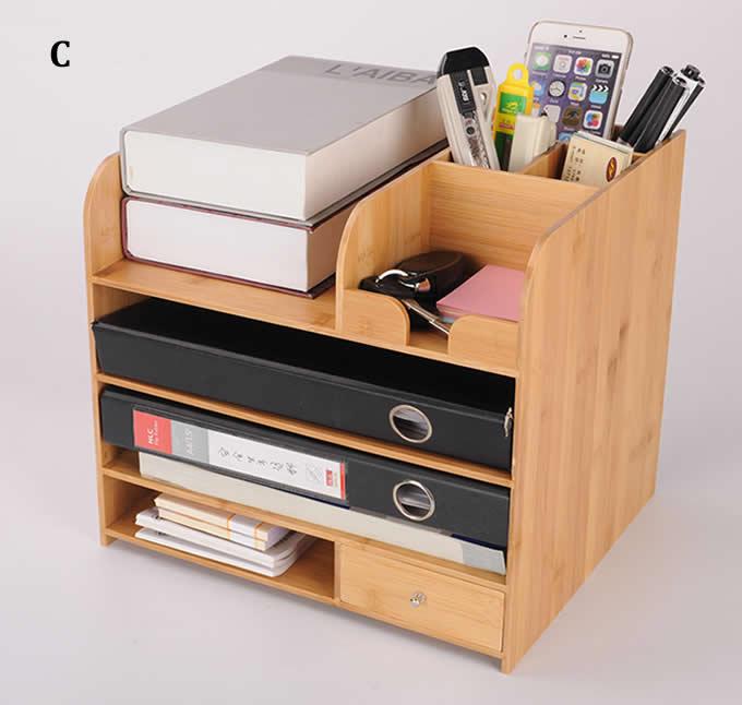 Bambooo Desk Office Supplies Organizer - FeelGift