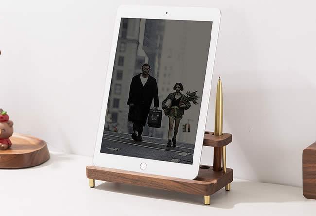 Black Walnut Wooden Pen Holder Phone Holder Ipad Stand