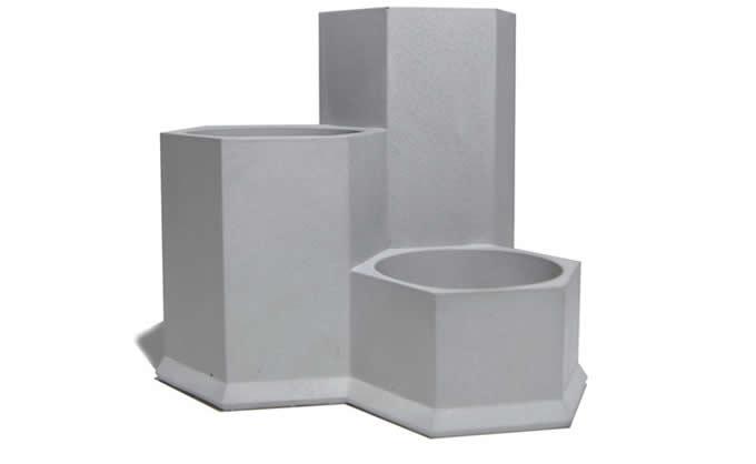 5 Compartment Concrete Office Desk Organizer