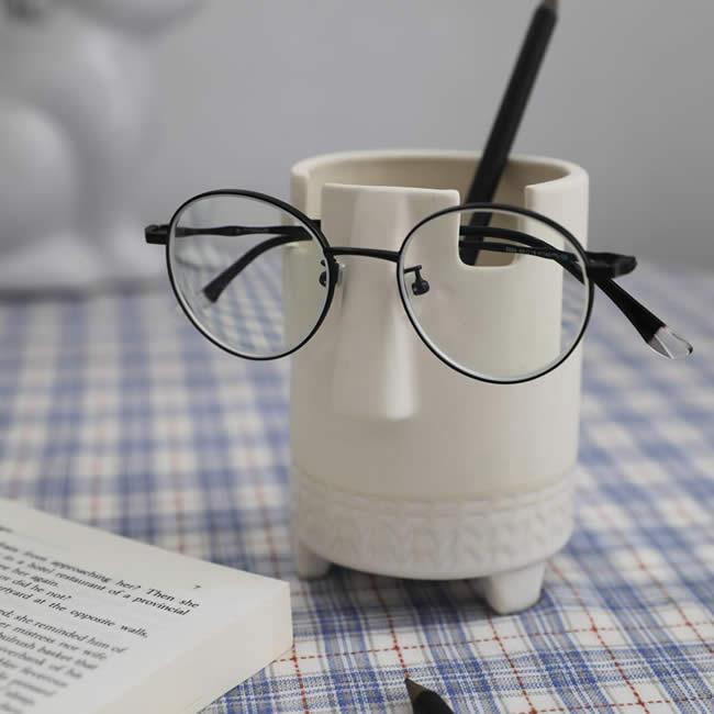 Creative Face Expression Storage Pen Holder Glasses Holder