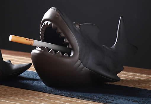 Creative Marine Style Ferocious Shark Ceramic Ashtray