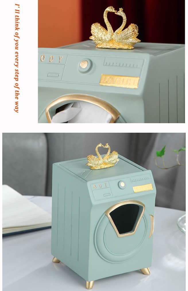 Creative Washing Machine Shape Living Room Office Decoration Tissue Box
