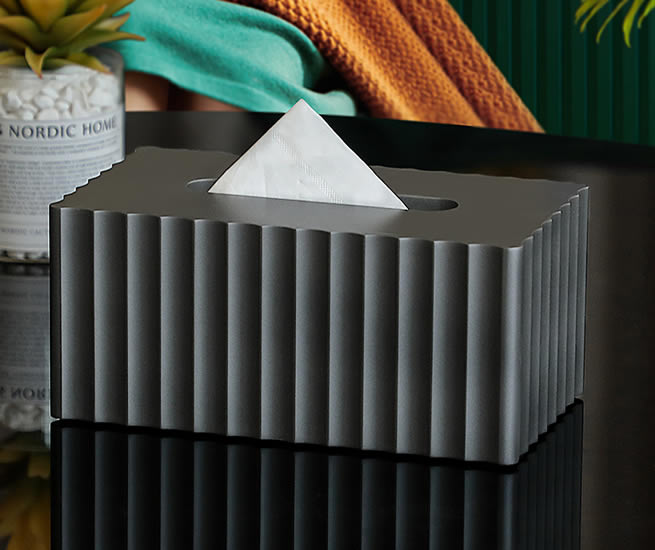 Fashion Geometric Line Art Square Tissue Box