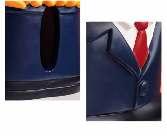 Cartoon Suit Man Doll Decorative Tissue Box