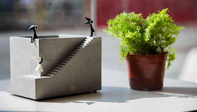 Handmade Concrete Architectural Style Succulent Planter ...