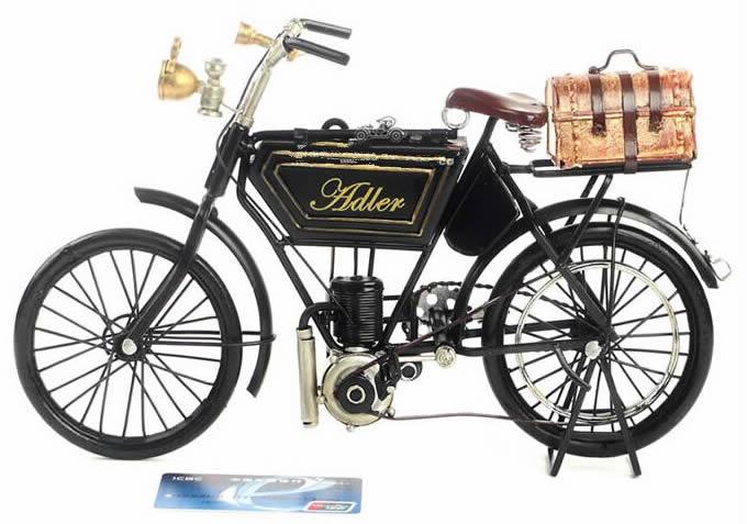 Handmade Antique Model Kit Car-1903 Adler motorcycle