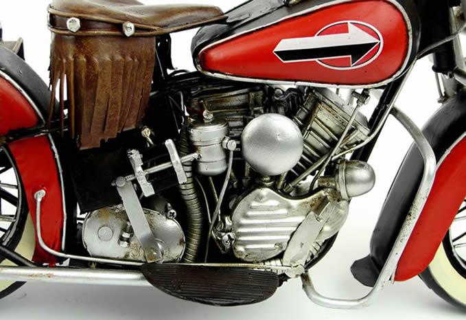 Handmade Antique Model Kit Car-1952 Harley FL Motorcycle