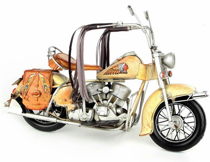Handmade Antique Model Kit Car-1969  US Indian Motorcycle